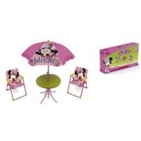 Minnie Set Giardino 4pz Tavolo 48x50x50  Ombrellone 10