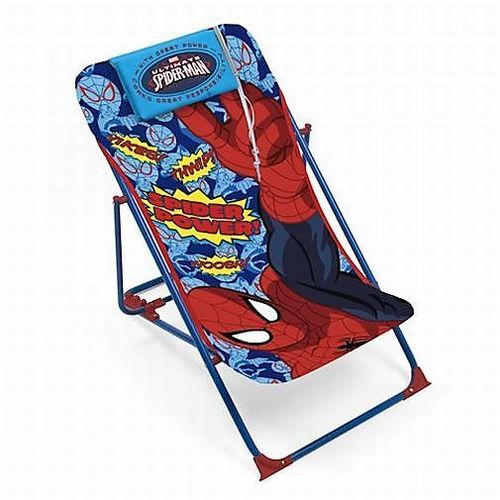 Sedia A Sdraio Spiderman C/cuscino       Peso Max 30kg   Seduta 37x83cm
