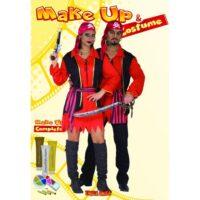 Pirata  Unisex C/trucco   Costume