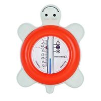 Termometro Da Bagno Tartaruga Corallo Om 13x13x23cm   Galleggiante