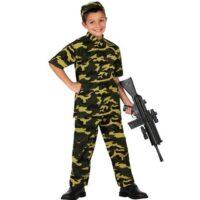 Costume Bambino Soldato Milit. 5/6 Anni
