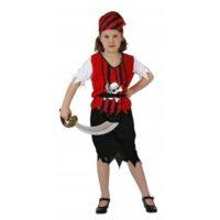Costume Bambina Piratessa 7/9 Anni