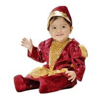 Costume Bimba Principessa Oro/bordeaux   40x3x59cm - 3/12 Mesi