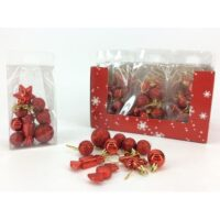 Set 10 Appendini Rosso In Display