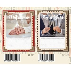 Biglietti Matrimonio Graf.eff.perl C.12