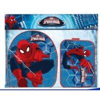 Zaino + Portapr Tessuto 35x40 Spiderman