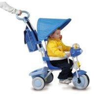 Triciclo Baby Plus Celeste C/parasole    Suoni Musicali Guida C/comando Direzione