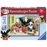Puzzle 2 X 12pz Avventure Di Bing