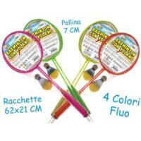 Racchette Badminton 4 Col. Fluo