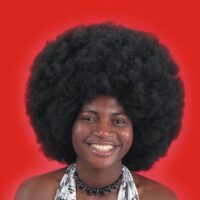 Parrucca Africa Nera Cm.40