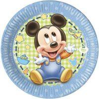 Piatti Cm.20 Pz.8 Baby Mickey