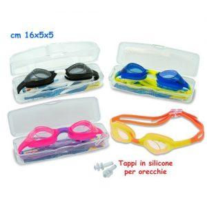 Occhialini In Silicone 4col C/tappi Orec