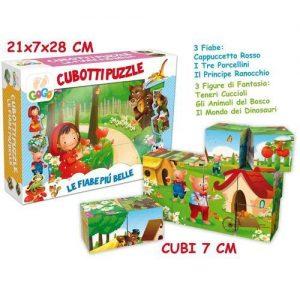 Cubotti Puzzle Fiabe Italiane 12pz