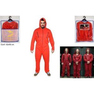 Vestito Personaggio Adulto Tuta Rossa  )